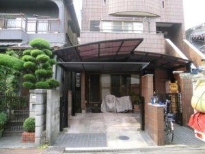 カーポート・電動ゲート施工後 (2)