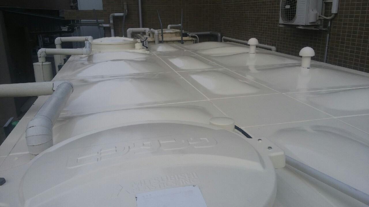 神戸市タンク塗装工事 天板完了