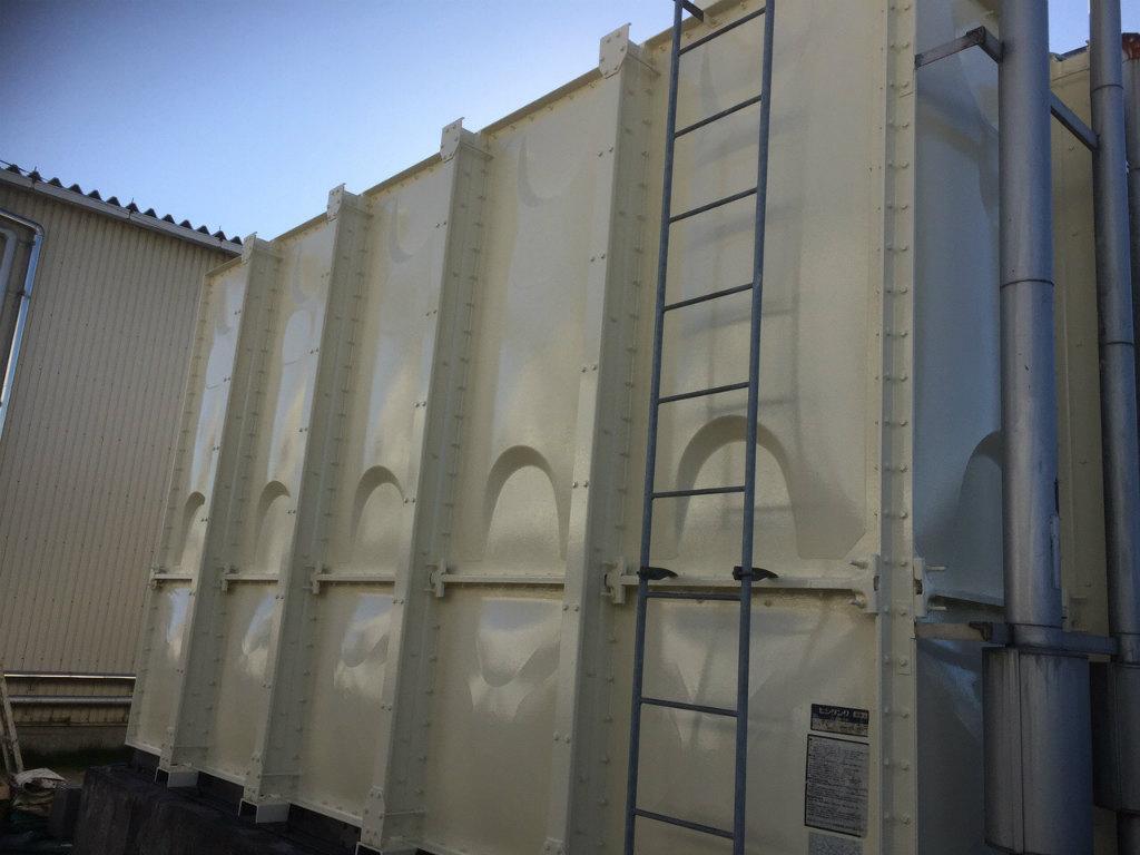 受水槽タンク塗装工事 側板完了