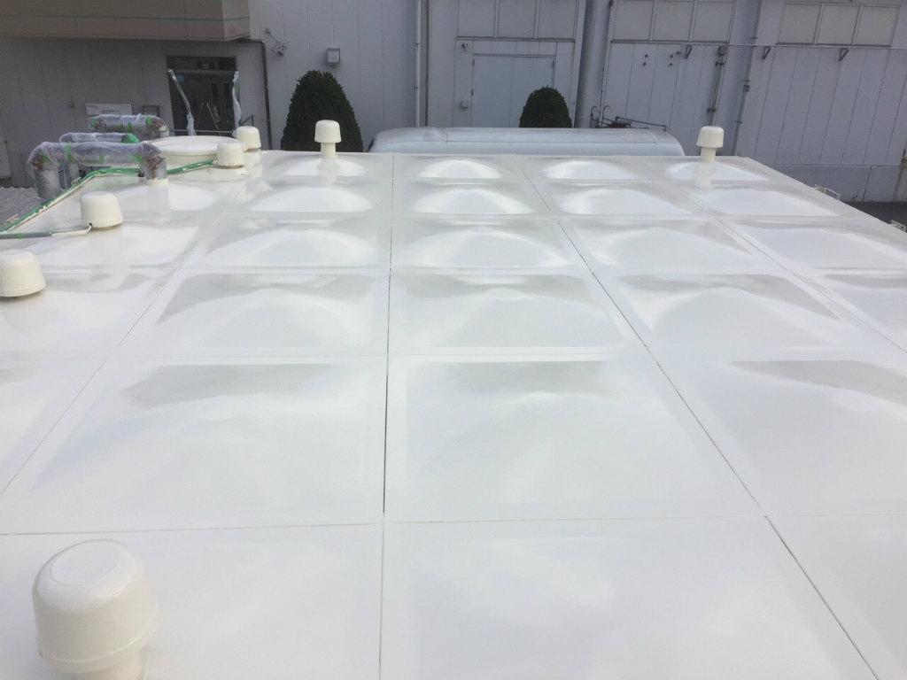 受水槽タンク塗装工事 天板完了
