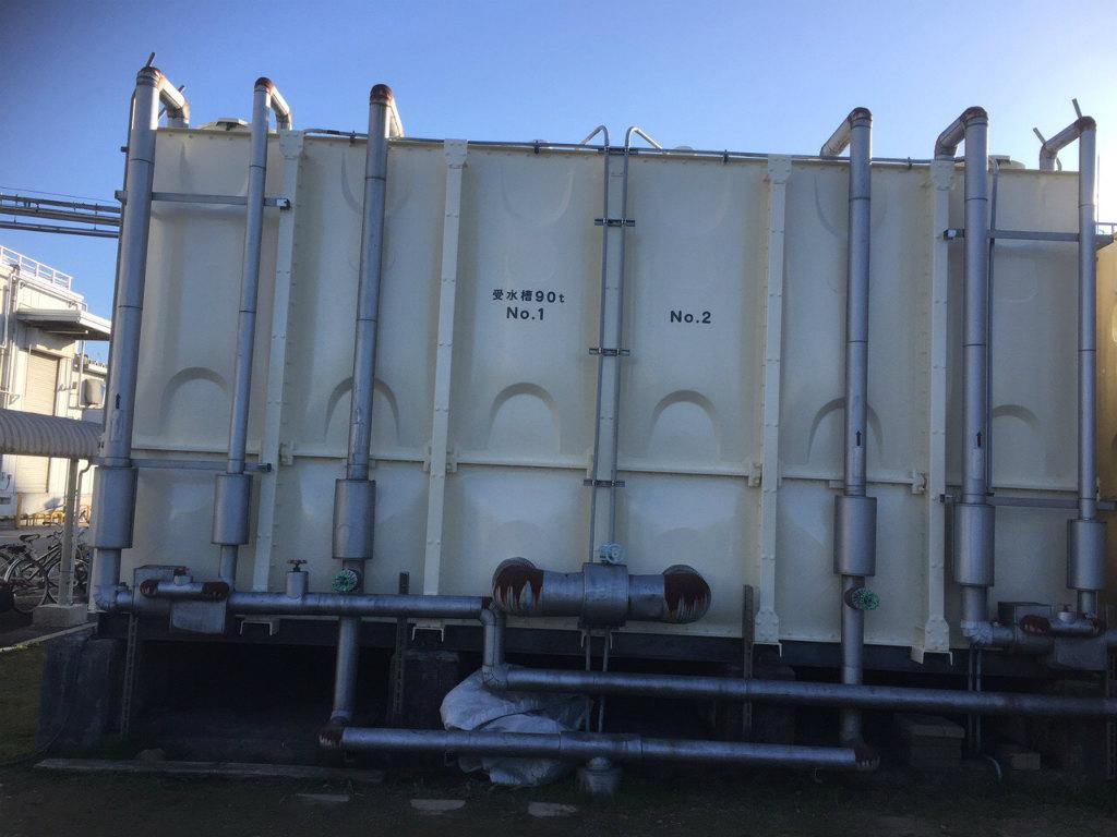 受水槽タンク塗装工事 ステッカー貼替完了