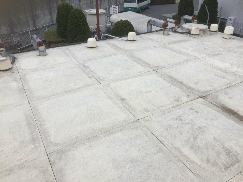 受水槽タンク塗装工事 天板施工前現状