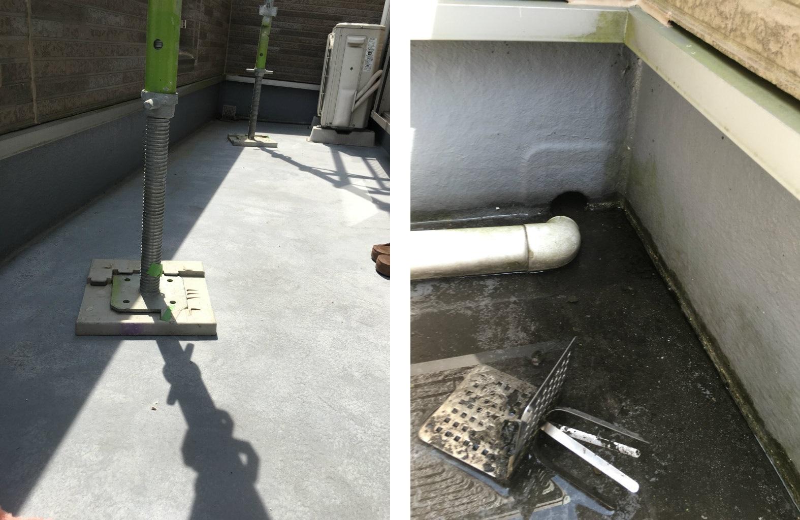 FRP防水工事 施工前現状
