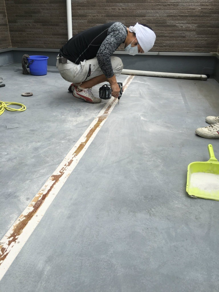 014 FRP防水工事 防水層ビス補強
