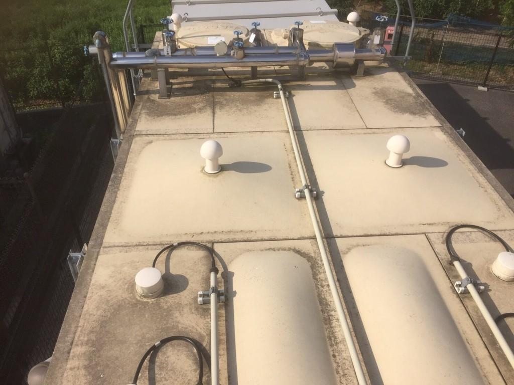 タンク塗装工事 天板 現状