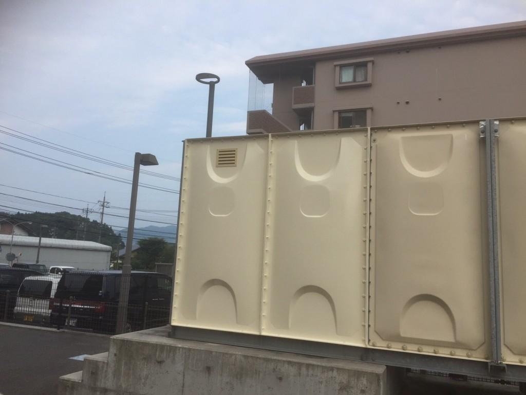 タンク塗装工事 側面 完了