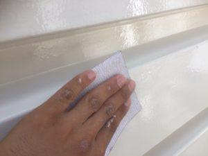 007 鋼板部塗装 錆止め後研磨