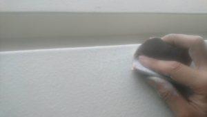 009 鋼板部塗装 上塗り1回目後研磨